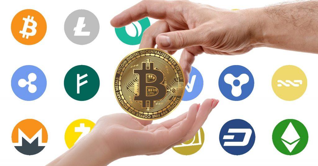 بیت کوین رشد رمزارز ها و تغییر نقش بانک ها Cryptocurrency logos 1024x533